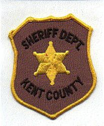 Sheriff: MI, Kent Co. Sheriff Dept. Patch (brown letters)