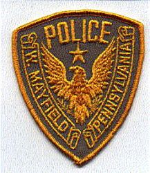 West Mayfield Police Patch (PA)