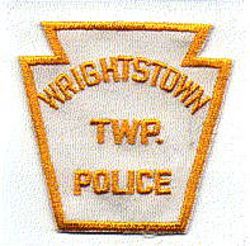 Wrightstown Twp. Police Patch (white/yellow) (PA)