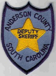 Sheriff: SC. Anderson Co. Deputy Sheriff Patch (gold star)
