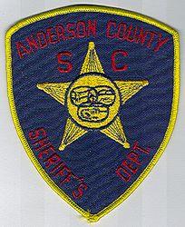 Sheriff: SC. Anderson Co. Sheriffs Dept. Patch