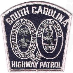 State: SC. Highway Patrol Patch (obsolete, blue/white)