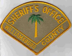 Sheriff: SC. Williamsburg Co. Sheriffs Dept. Patch