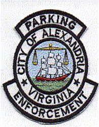 Alexandria Prkng. Enforcement Patch (VA)