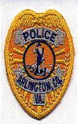 Arlington Co. Police Patch (cap badge, yellow) (VA)
