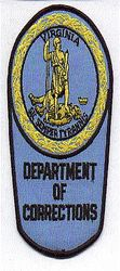 Dept. of Corrections Patch (VA)