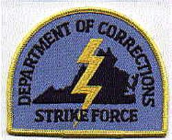 Dept. of Corrections Strike Force Patch (VA)