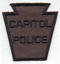 Capitol Police Patch (brown/large) (PA)