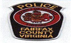 Fairfax Co. 1742 Police Patch (white edge) (VA)