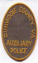 Dinwiddie Co. Aux. Police Patch (VA)