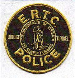 E.R.T.C. Bridge Tunnel Police Patch (VA)