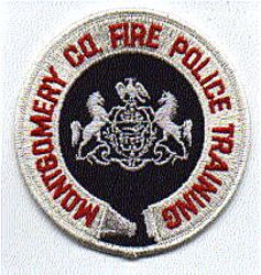 Montgomery Co. Fire Police Training Patch (white edge) (PA)