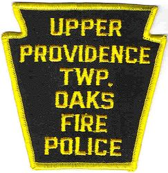 Upper Providence Twp. Oaks Fire Police Patch (PA)