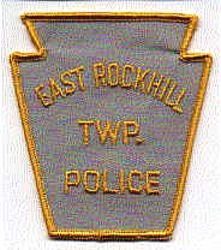 East Rockhill Twp. Police Patch (gold) (PA)