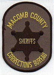Sheriff: MI, Macomb Co. Sheriffs Corrections Bureau Patch