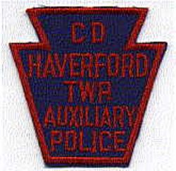 CD Haverford Twp. Aux. Police Patch (PA)