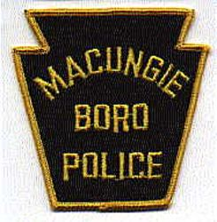 Macungie Boro Police Patch (felt) (PA)