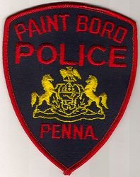 Paint Boro Police Patch (red edge) (PA)