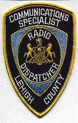Lehigh Co. Radio Dispatcher Patch (PA)