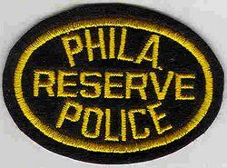 Philadelphia Reserve Police Patch (PA)