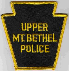 Upper Mt. Bethel Police Patch (yellow edge) (PA)