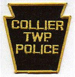 Collier Twp. Police Patch (yellow edge, keystone) (PA)