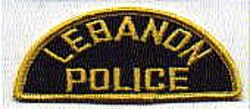 Lebanon Police Patch (shoulder tab) (PA)