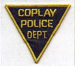 Coplay Police Patch (gold edge, small triangle) (PA)