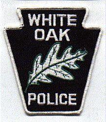 White Oak Police Patch (white edge) (PA)