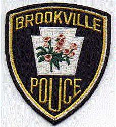 Brookville Police Patch (black edge) (PA)