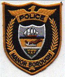 Manor Borough Police Patch (PA)