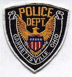 Garrettsville Police Patch (white edge) (OH)