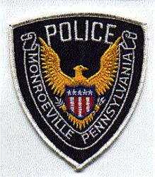 Monroeville Police Patch (white) (PA)