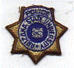 School: AZ, State Univ. Police Patch (cap badge)
