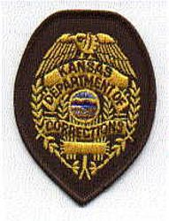 Dept. of Corrections Patch (badge size) (KS)