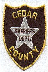 Sheriff: MO, Cedar Co. Sheriffs Dept. Patch