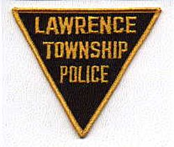 Lawrence Twp. Police Patch (black/gold, triangular) (NJ)