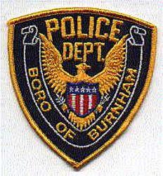 Boro of Burnham Police Patch (gold edge) (PA)