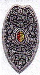 Lakeland Police Officer Patch (badge size) (FL)