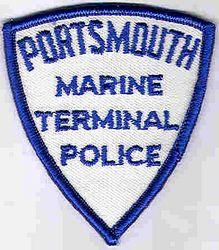 Portsmouth Marine Terminal Police Patch (cap size) (VA)
