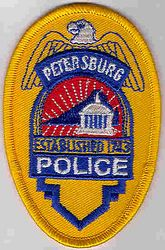 Petersburg Police Patch (cap badge) (VA)