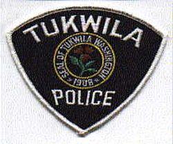 Tukwila Police Patch (black/twill) (WA)