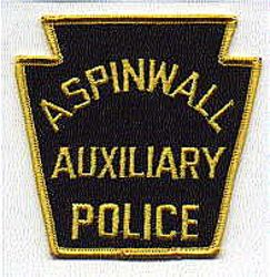 Aspinwall Aux. Police Patch (large) (PA)