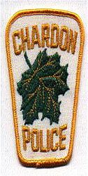Chardon Police Patch (white/yellow) (OH)