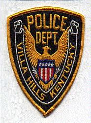 Villa Hills Police Patch (gold edge) (KY)