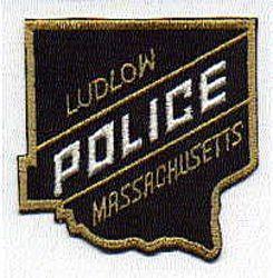 Ludlow Police Patch (black/tan edge) (MA)