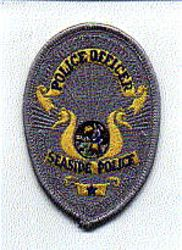 Seaside Police Officer Patch (gray,yellow) (badge patch) (CA)