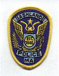 Ashland 1846 Police Patch (cap size) (MA)