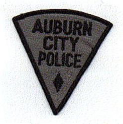 Auburn City Police Patch (black/gray, triangular) (NY)