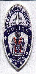 Fairfax City Corporal Patch (cap badge) (VA)